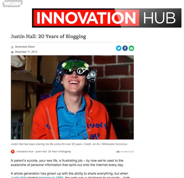 Justin Hall 20 years of blogging